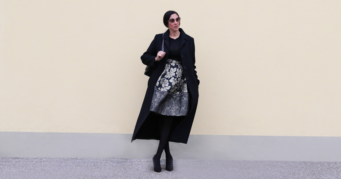 Outfit broccato so chic