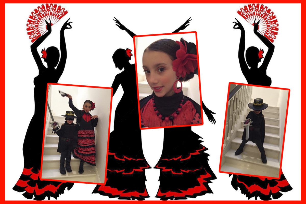 Costumi bambini danzatrice Gitana e Zorro