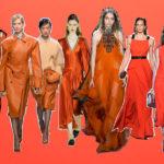 Trend of vibrant orange