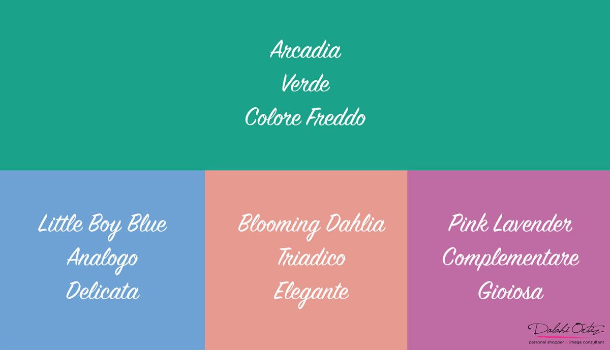 05_Colori di tendenza 2018_Arcadia_Palette colore verde