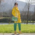 Trendy Plastic: plastic see-through raincoat