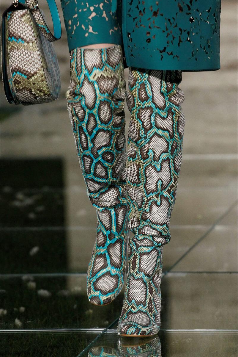 Stivali con borsa in pelle di serpente - Salvatore Ferragamo