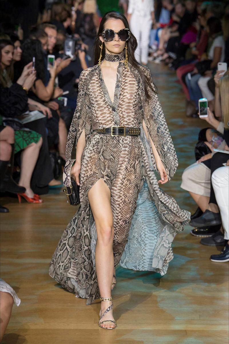 Vestito stile perlle di coccodrillo Elie-Saab