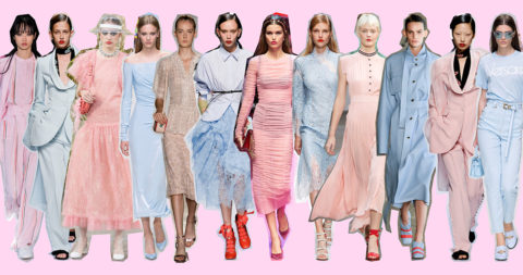 La tendenza dei Colori Pastello, Rosa e Celeste - copertina